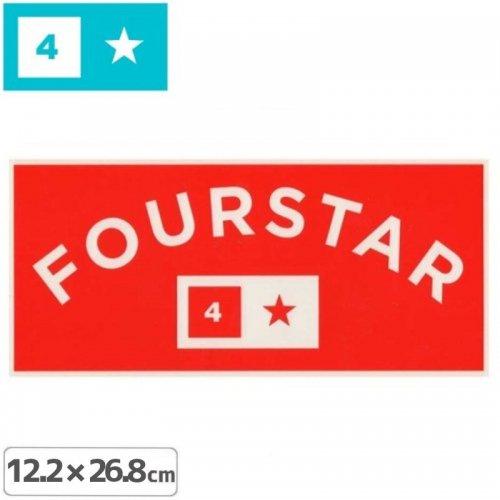【FOURSTAR フォースター STICKER ステッカー】ARCH【12.2cm x 26.8cm】NO12