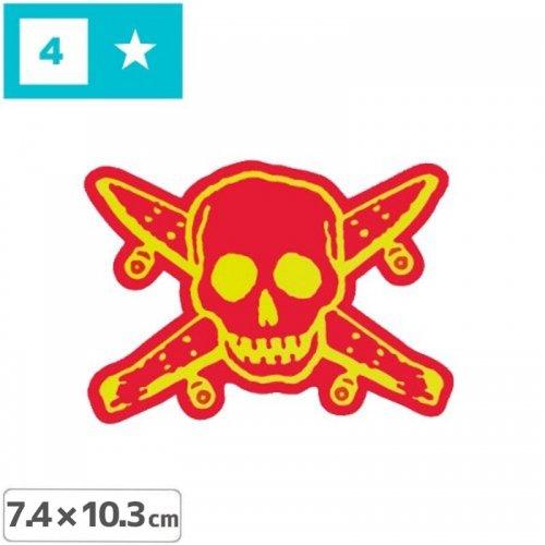 【FOURSTAR フォースター Sticker ステッカー】PIRATE【7.4cm x 10.3cm】NO13