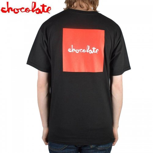 【チョコレート CHOCOLATE Tシャツ】RED SQUARE【ブラック】NO147