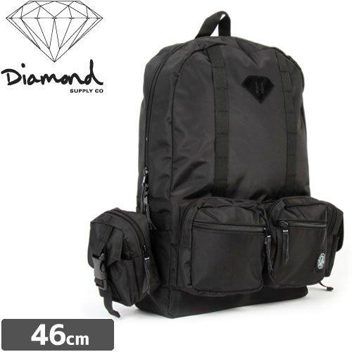 【ダイヤモンド DIAMOND SUPPLY CO スケボー バックパック】HAIGHT BACKPACK【ブラック】NO1