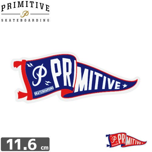 【プレミティブ PRIMITIVE スケボー ステッカー】PENNANT【4.7cm×11.6cm】NO2
