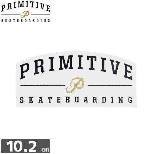 【プレミティブ PRIMITIVE スケボー ステッカー】LOGO GOLD【4.8cm×10.2cm】NO3