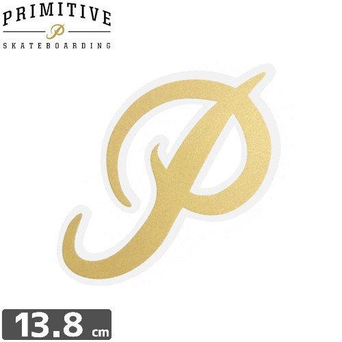 【プレミティブ PRIMITIVE スケボー ステッカー】P GOLD【13.8cm×8.1cm】NO4