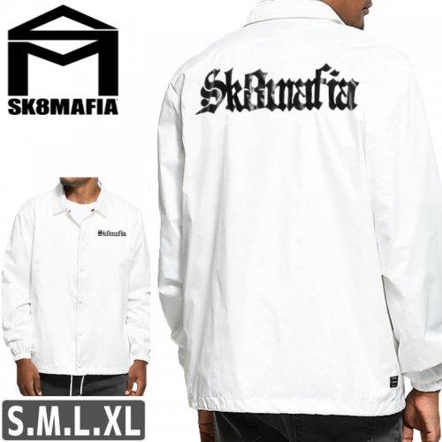 【スケートマフィア SK8MAFIA スケボー ジャケット】SKATEMAFIA OLD E COACH JACKET【ホワイト】NO2