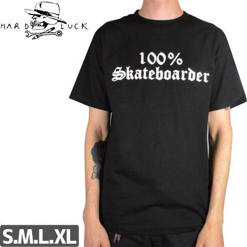 【HARD LUCK ハードラック Tシャツ】100% SKATEBOARDER TEE【ブラック】NO5