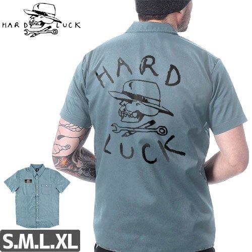 【HARD LUCK ハードラック ワークシャツ】OG LOGO PATCH WORK SHIRTS【ライトブルー】NO1