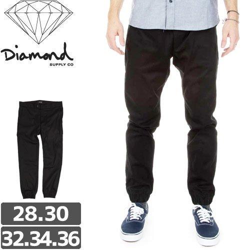 【ダイヤモンド DIAMOND SUPPLY CO チノ】MINED JOGGER PANTS SLIM FIT ジョガーパンツ SU15【ブラック】NO4