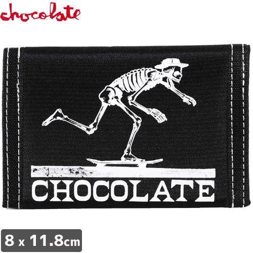 【CHOCOLATE チョコレート スケボー 財布】VELCRO【ブラック】No06