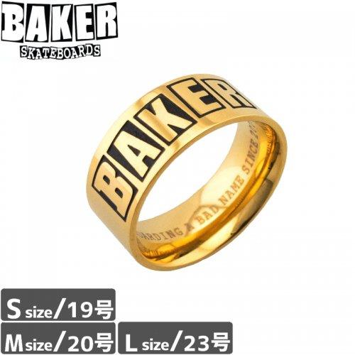 【BAKER ベーカー スケボー 小物】BAKER LOGO RING【ゴールド】NO1