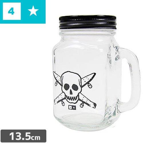 【FOUR STAR フォースター スケボー マグカップ】PIRATE MASON JAR MUG グラス ジャー NO1