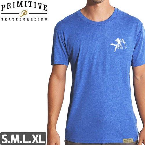 【PRIMITIVE プリミティブ Tシャツ】SHADOW LIGHTWEIGHT TEE【ヘザーブルー】NO1
