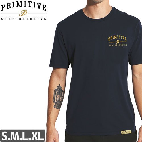 【PRIMITIVE プリミティブ Tシャツ】CORE LOGO TEE【ネイビー】NO2