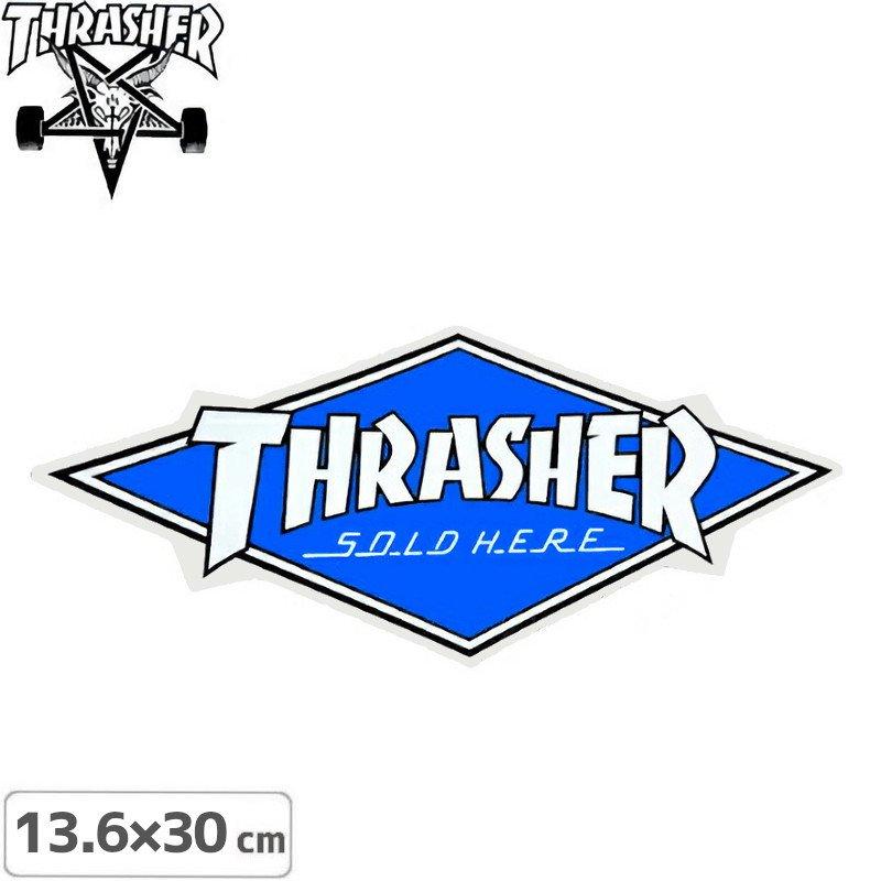 【スラッシャー THRASHER スケボー ステッカー】DIAMOND LOGO【13.6cm x 30.1cm】NO65