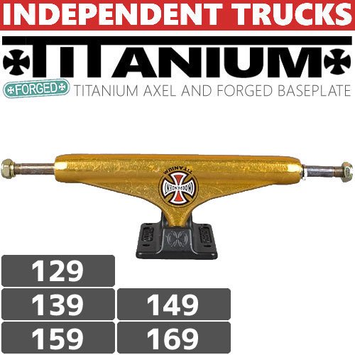 【INDEPENDENT インデイペンデントトラック】FORGED TITANIUM STAGE11 TRUCKS GOLD/BLACK【STANDARD】NO85