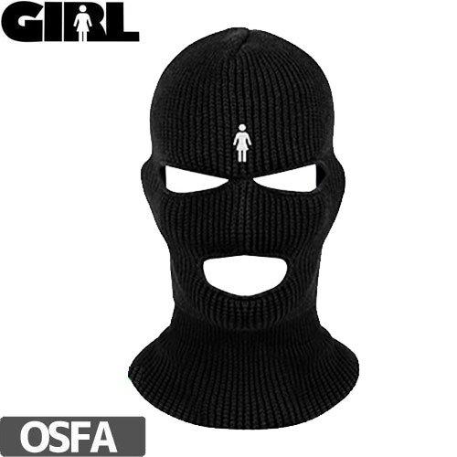 【GIRL SKATEBOARD ガール ニットキャップ】OG BALACLAVA BLACK SKI MASK【ブラック】NO30