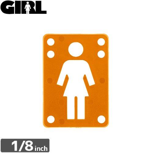 【GIRL ガールスケートボード ライザーパッド】RISER PAD【1/8】【オレンジ】NO4