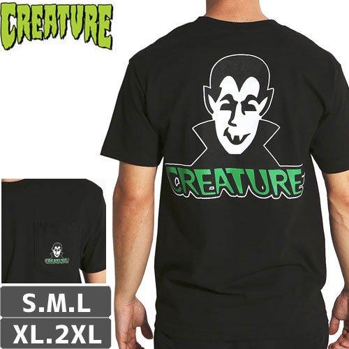 【CREATURE クリーチャー スケボー Tシャツ】VAMP POCKET TEE【ブラック】NO116