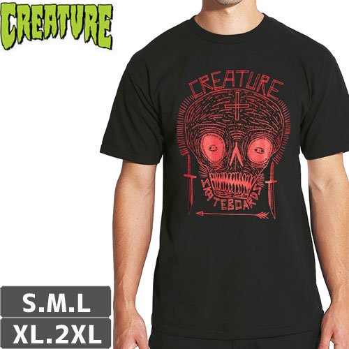 【CREATURE クリーチャー スケボー Tシャツ】CRIDDLER REGULAR TEE【ブラック】NO117