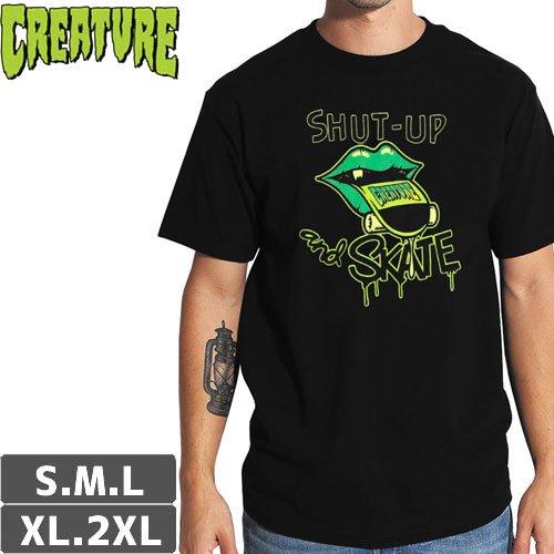 【CREATURE クリーチャー スケボー Tシャツ】SHUTEE REGULAR TEE【ブラック】NO118