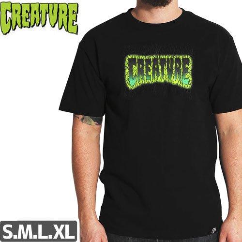 【CREATURE クリーチャー スケボー Tシャツ】PULSE REGULAR TEE【ブラック】NO119
