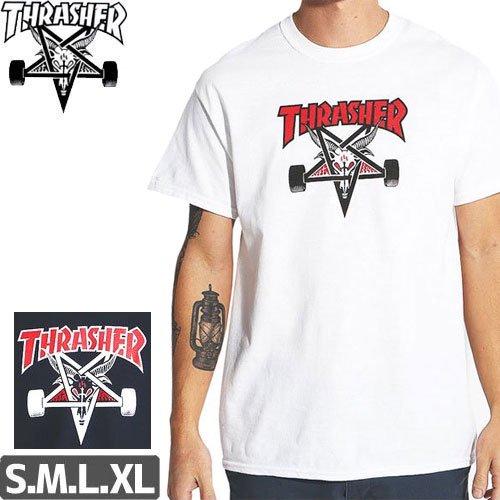 【スラッシャー THRASHER スケボー Tシャツ】TWO-TONE SKATEGOAT TEE【2カラー】NO99