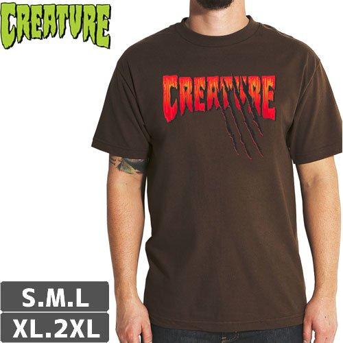 【CREATURE クリーチャー スケボー Tシャツ】TEEN WOLF REGULAR TEE【ダークチョコレート】NO123