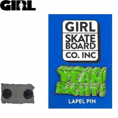 【GIRL ガールスケートボード ピンバッチ】Yeah Right Enamel Pin【2.3cm x 3.7cm】NO05