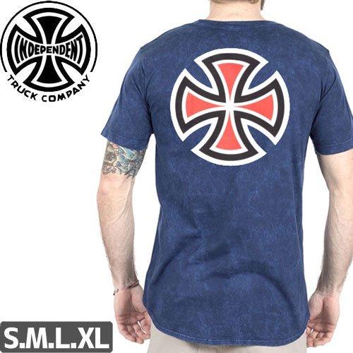 【インディペンデント INDEPENDENT Tシャツ】BAR CROSS REGULAR S/S TEE【ミネラルネイビー】NO146
