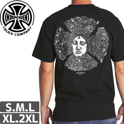 【インディペンデント INDEPENDENT Tシャツ】FIGGY MEDUSA REGULAR S/S TEE【ブラック】NO147