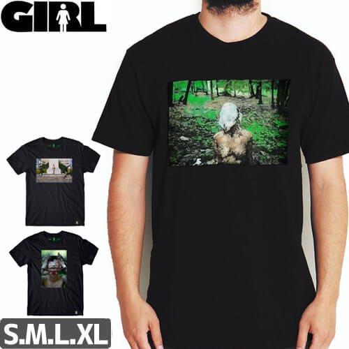 【ガール GIRL SKATEBOARDS Tシャツ】IAN REID IZZY & CARROLL & AVA【ブラック】NO273