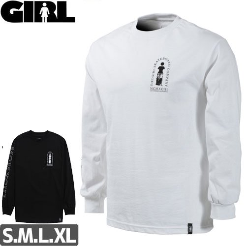 【GIRL ガールスケートボード ロング Tシャツ】ROMAN LS【2カラー】NO04