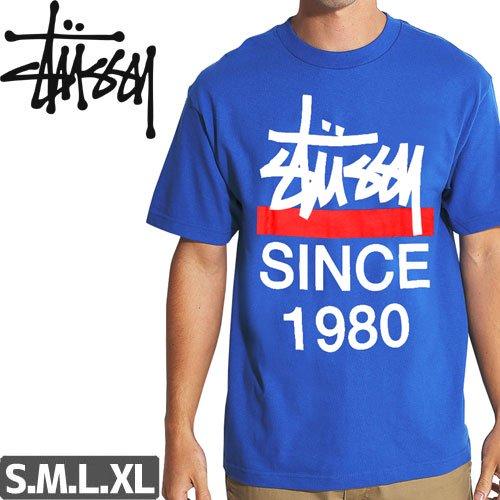 【ステューシー STUSSY Tシャツ】CHISEL SINCE80 TEE【ブルー】NO229