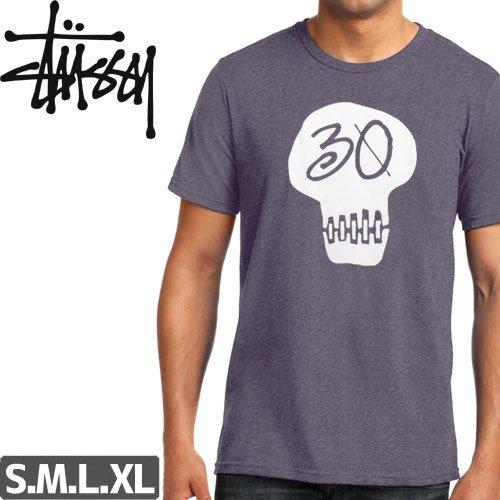 【ステューシー STUSSY Tシャツ】30 SKULL TEE【ヘザーパープル】NO301