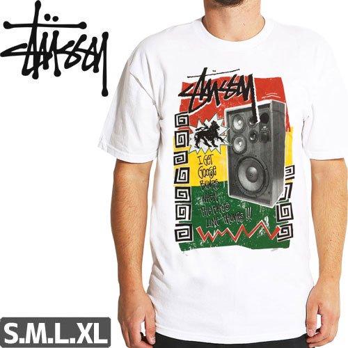 【ステューシー STUSSY Tシャツ】RASTATHUMP TEE【ホワイト】NO201