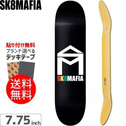 【スケートマフィア SK8MAFIA スケボー デッキ】HOUSE LOGO RASTA DECK[7.75インチ]NO93
