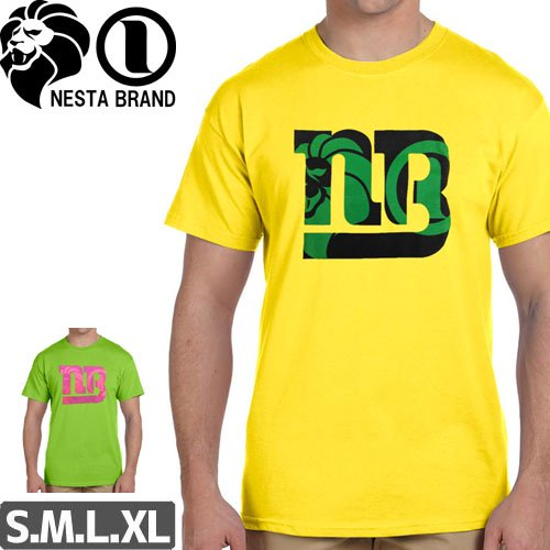 【ネスタ NESTA BRAND スケボー Tシャツ】NB LOGO TEE【2カラー】NO23