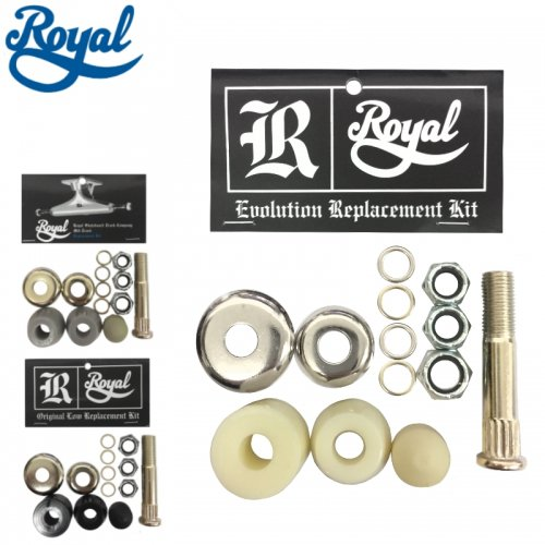【ROYAL ロイヤル スケボー ブッシュ】KINGPIN REPlACEMENT KIT【1トラック分セット】NO3