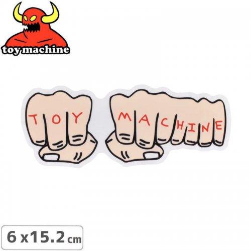【トイマシーン TOY MACHINE スケボー ステッカー】FISTS STICKER【6.3cm x 15.8cm】NO34