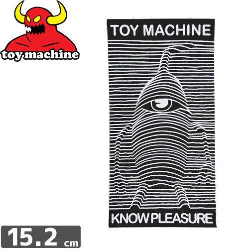 【トイマシーン TOY MACHINE スケボー ステッカー】KNOW PLEASURE【15.2cm x 7.9cm】NO35