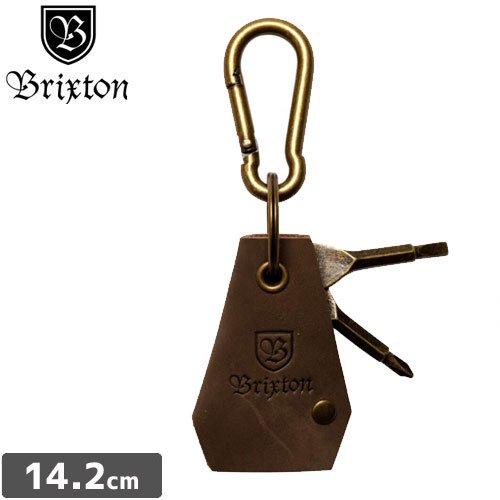 【BRIXTON ブリクストンキーホルダー】HAVEN KEYCHAIN【ブロンズ カラー】NO05