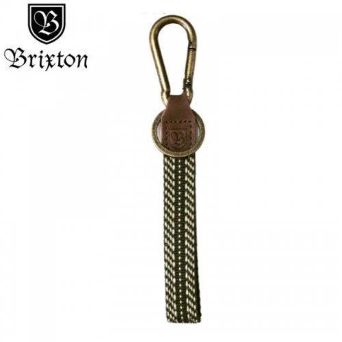 【BRIXTON ブリクストンキーホルダー】RICHARD KEY CHAIN【クリーム・ブラック】 NO08