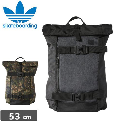 【アディダス ADIDAS SKATEBOARDING バックパック】ORIGINALS AS SKATE STRAP BACKPACK【ブラック】【カモ】NO1