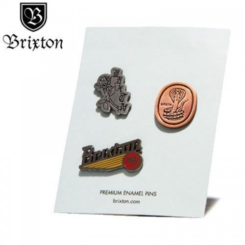 【BRIXTON ブリクストン ピンバッチ】PACE PIN PACK【3PAC】 NO01