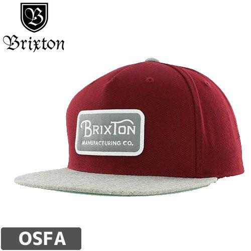 【BRIXTON ブリクストンキャップ】GRADE SNAPBACK【バーガンディー】NO024