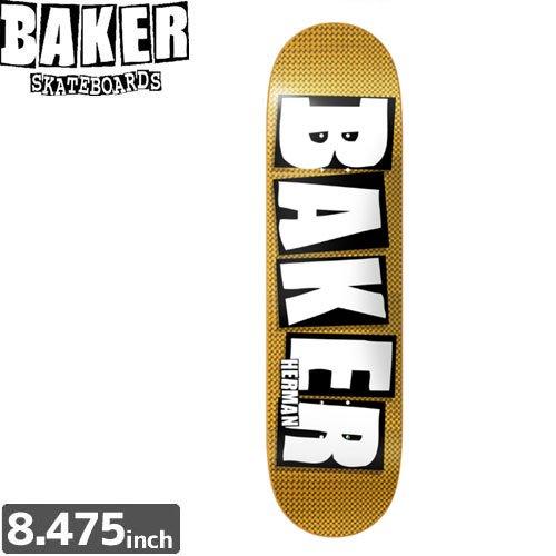 【ベーカー BAKER スケボー デッキ】BH HOLO GOLD BRAND NAME[8.4インチ]NO147