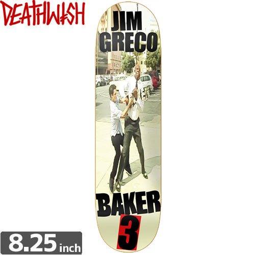 【デスウィッシュ DEATH WISH スケボー デッキ】DEATHWISH JG BAKER [8.2インチ]NO49