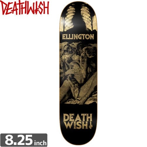【デスウィッシュ DEATH WISH スケボー デッキ】ELLINGTON COLORS OF DEATH 2 [8.2インチ] NO55