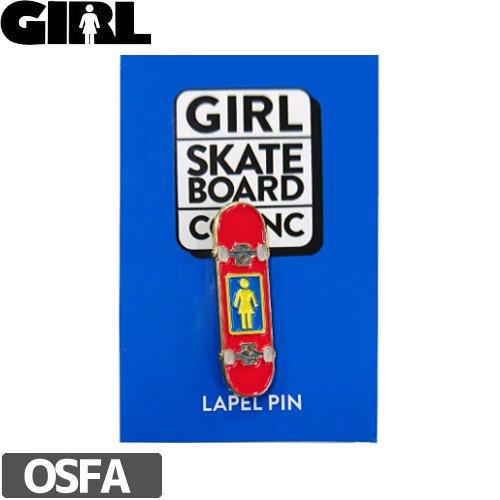 【GIRL ガールスケートボード ピンバッチ】ENAMEL PIN【3.9cm x 1cm】NO6