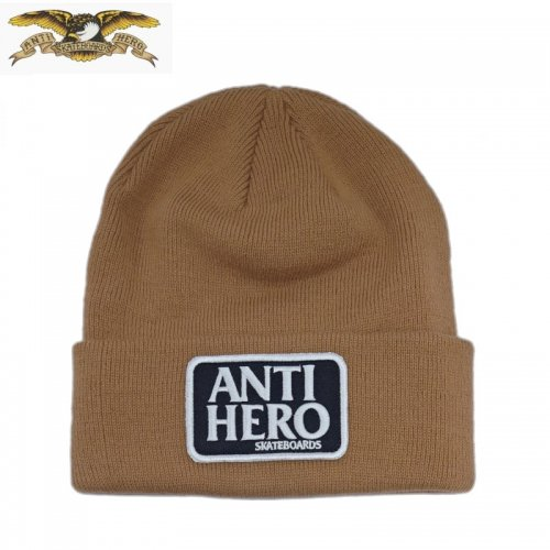 【ANTI HERO アンチヒーロー スケボー】ビーニー RESERVE PATCH CUFF   NO10