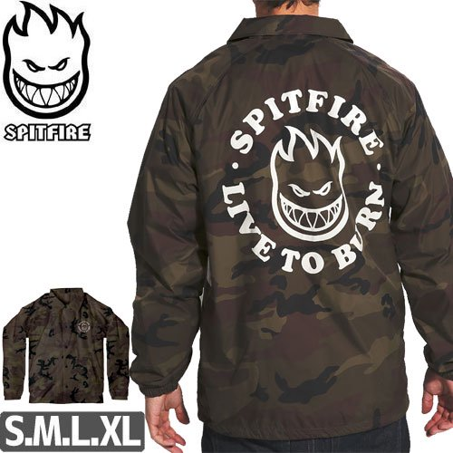 【スピットファイア SPITFIRE ジャケット】LIVE TO BURN BIGHEAD COACHES JACKET【迷彩】NO5